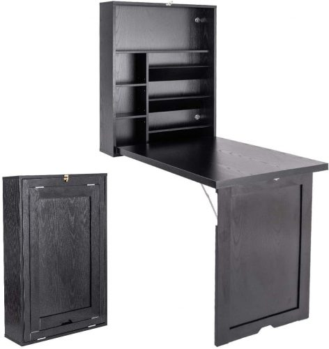 TANGKULA Wall Mounted Fold Out Desk