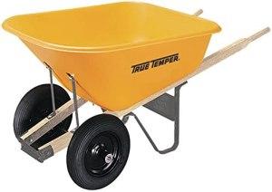 best wheelbarrow true temper dual wheel poly