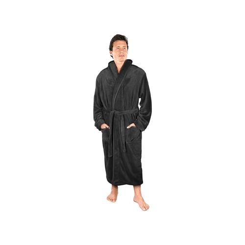 NY Threads men's fleece bathrobe