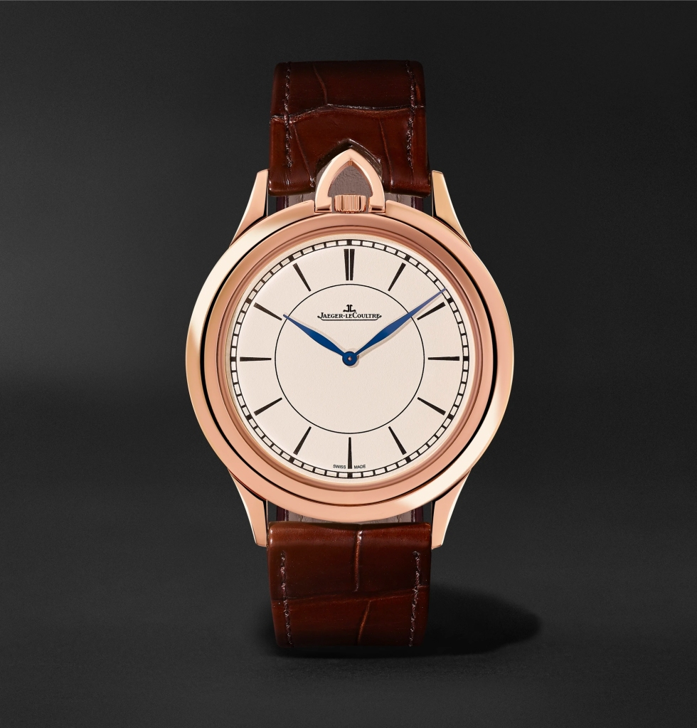 Jaeger-LeCoultre Limited Edition Master Ultra Thin Kingsman Knife 18-Karat Rose Gold and Alligator Watch