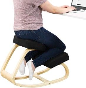vivo wooden rocking kneeling chair
