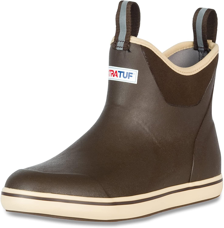 Xtratuf Men's 6-Inch Waterproof Ankle Deck Boot in brown