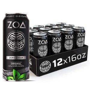 zoa zero sugar energy drink the rock