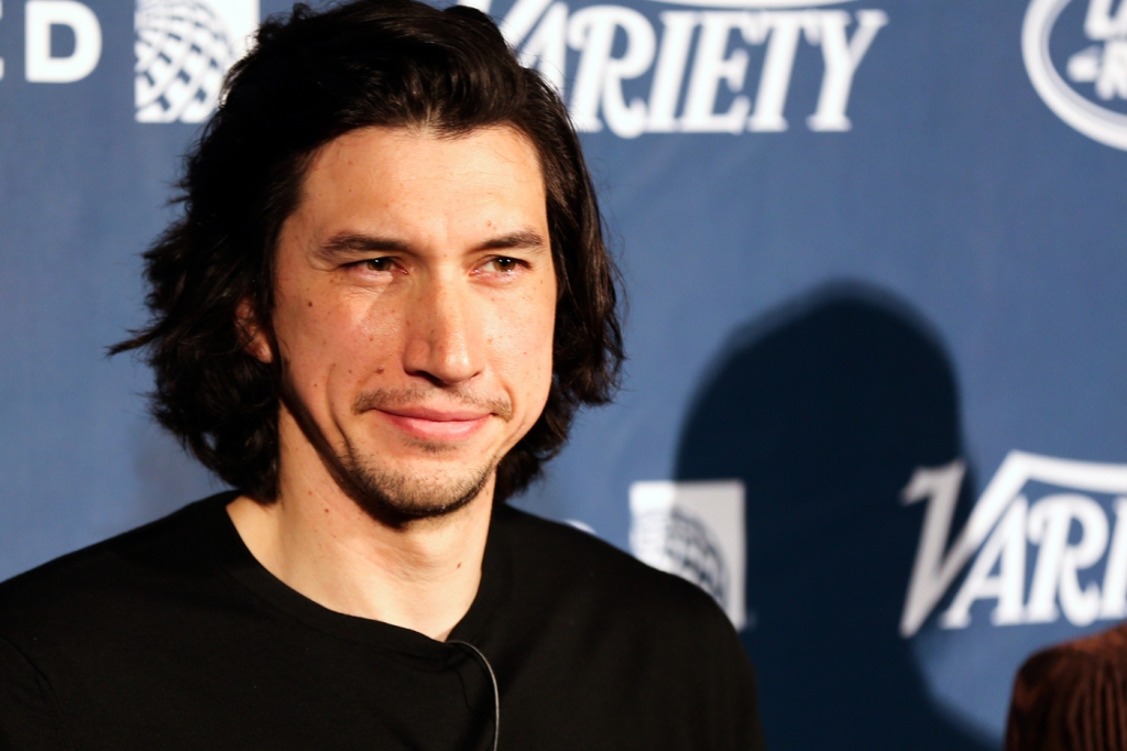 Adam Driver wearing the Stubble Mustache