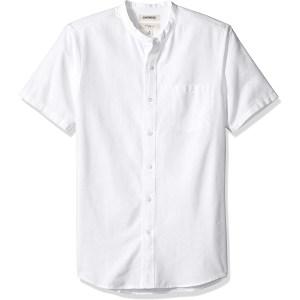 Goodthreads Slim-Fit Short-Sleeve Band-Collar Oxford Shirt
