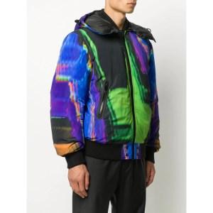 Diesel Abstract-Print Hooded Jacket