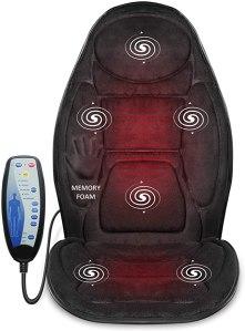 back massager - Snailax Memory Foam Massage Seat Cushion