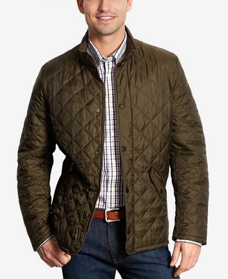 Barbour olive flyweight chelsea quilted jacket