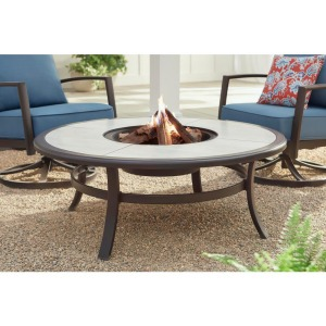 Hampton Bay Whitfield Galvanized Steel Wood Burning Fire Pit