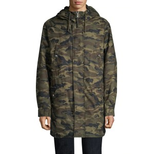 The Kooples Camo Hooded Cotton Parka