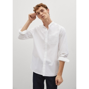 Mango Regular Fit Mao Collar Shirt