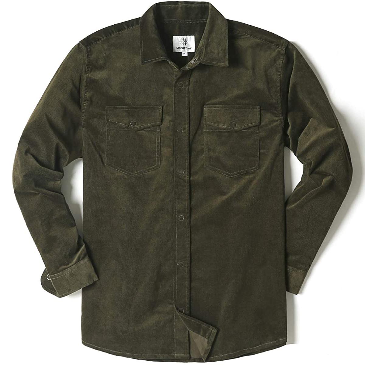 MOCOTONO Long Sleeve Thick Corduroy Shirt