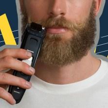 Men trimming a beard