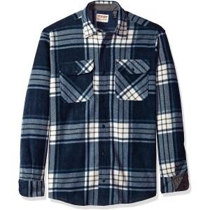 Wrangler Authentics Long Sleeve Heavy Weight Fleece Shirt