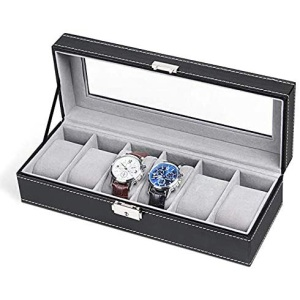 NEX 6 Slot Leather Watch Box Display