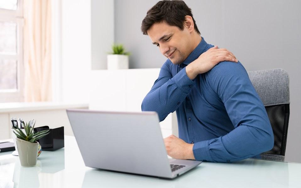 ergonomic workstation, ergonomic desk, ergonomic work,
