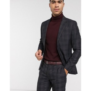 River Island Men's Plaid Suit Jacket