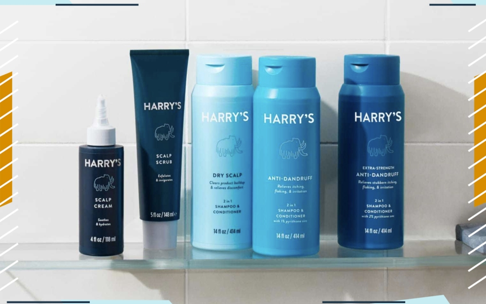 harrys new dandruff products