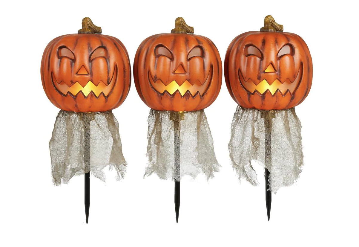 home accents holiday yard decorative pumpkin pathway