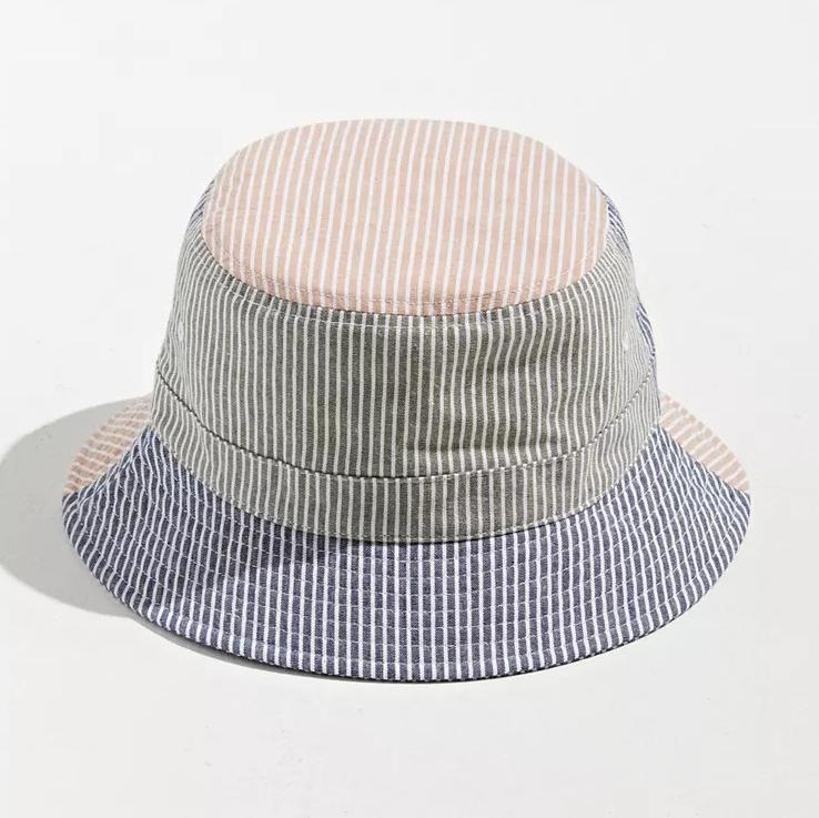 UO Seersucker Patchwork Bucket Hat