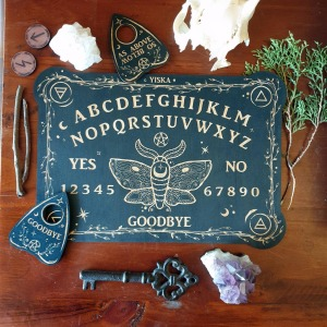 Wooden Spirit Board & Planchette Set