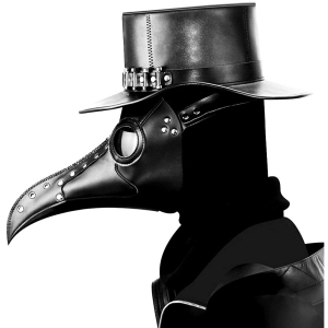scary halloween costumes for men Leather Plague Doctor Mask
