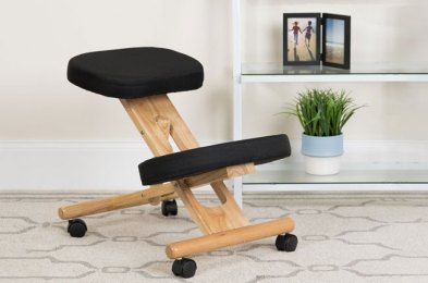 these whacky kneeling desk chairs make good posture during the work day actually possible