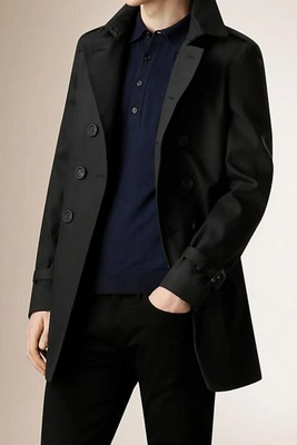 marcus black formal windbreaker trench coat
