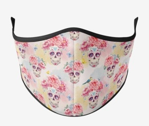 maskup floral skeleton, Halloween face masks