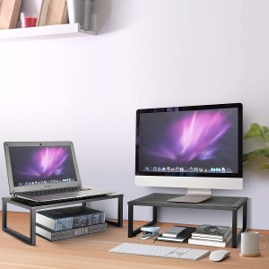 monitor riser, ergonomic workstation
