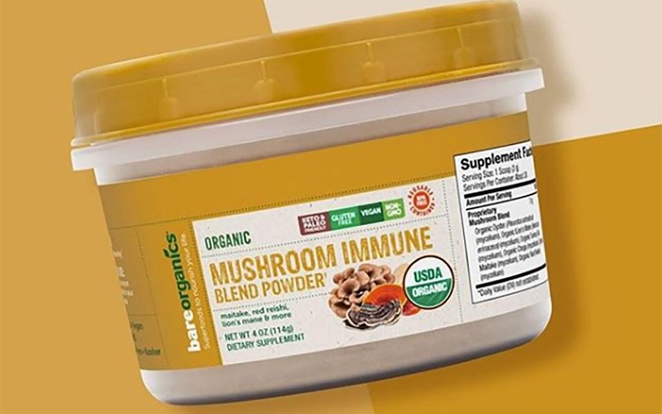 BareOrganics mushroom blend