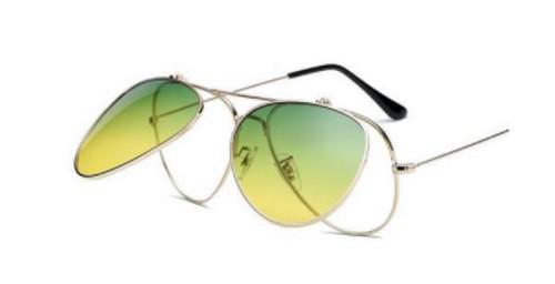 New Egg Green gradient flip-up sunglasses
