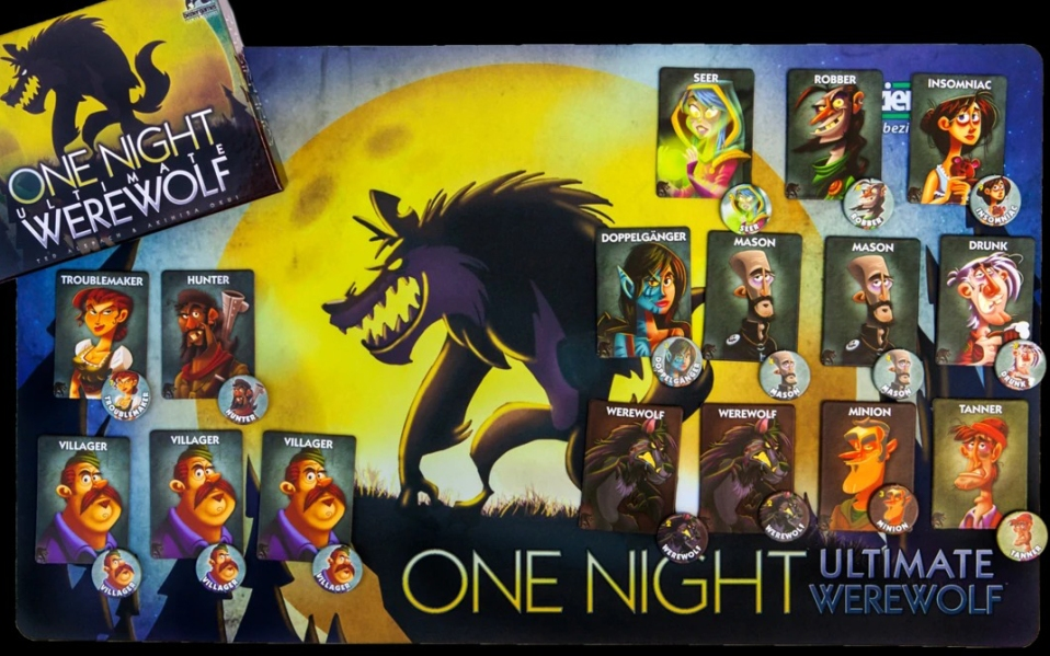 one night ultimate werewolf, board games,