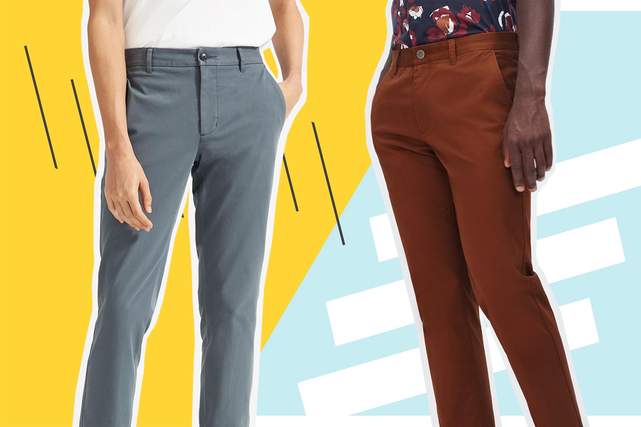 AD Mens Super Skinny Stretch Twills Chinos Trousers Smart Designer Stylish Jeans