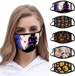 pumpkin Halloween face masks, Halloween face masks