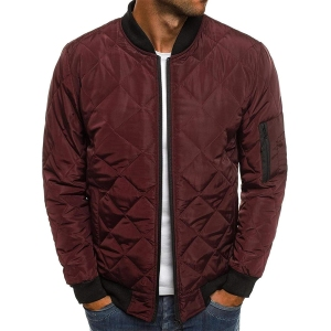 Soluo Quilted Slim Fit Bomber Jacket