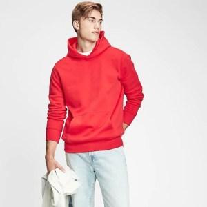 best hoodies for men - Gap Vintage Soft Hoodie (in red)