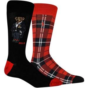 Polo Ralph Lauren 2-Pack Bear Plaid Socks