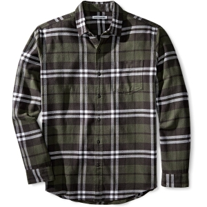 Amazon Essentials Flannel Shirt in Olive Plaid