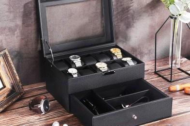 BEWISHOME Watch Box Organizer