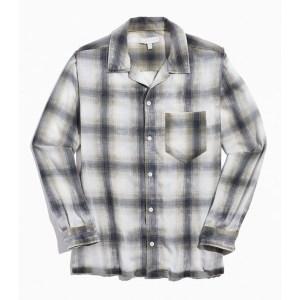 Standard Cloth Shadow Plaid Flannel Button-Down Shirt