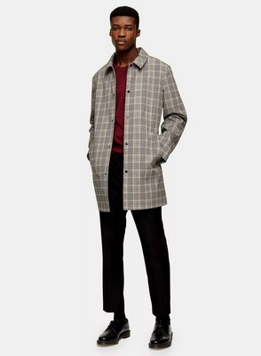 plaid mac coat from topman
