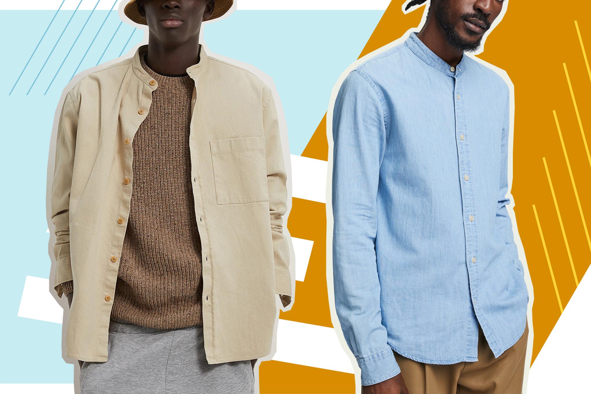 Mens Shirt Linen Cotton Blend Button Down Collar Casual Smart Dress Shirt