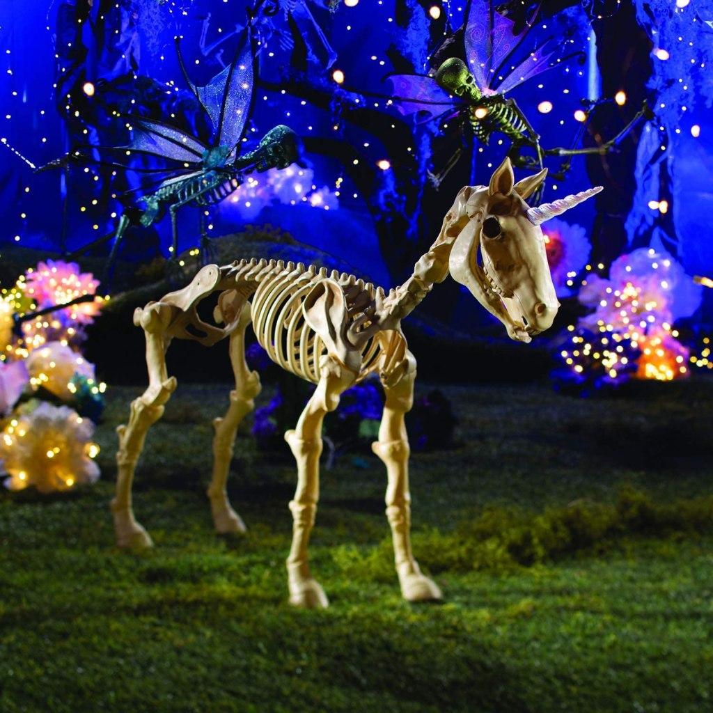 creepy unicorn skeleton