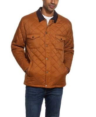 brown spice weatherproof quilted barn jacket