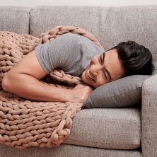 get a weighted blanket to keep anxiety at bay while you sleep