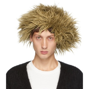 Doublet Beige Mohair Wig Beanie