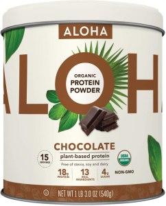 ALOHA Plant-Based Protein Powder (Chocolate), best protein powders