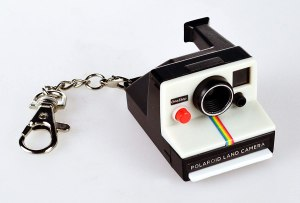 world's coolest polaroid camera keychain, cool keychains