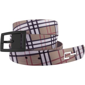 khaki plaid Golf Belt with Buckle
